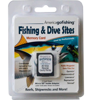 Fishing & Dive Sites memory card from florida go fishing