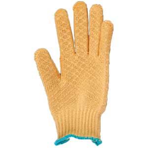 Orange honeycomb gloves