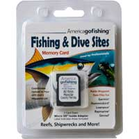 Fishing and Dive Sites Memory Card for the Florida Keys with reef sites